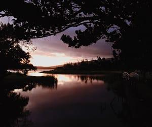 lake, landscape, and lights image