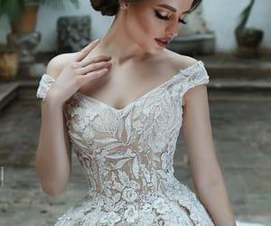beauty, bride, and wedding image