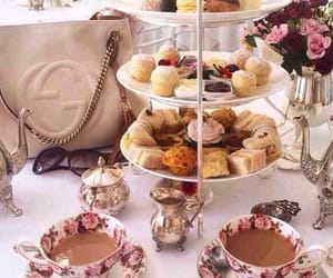 afternoon tea, blogger, and cake image