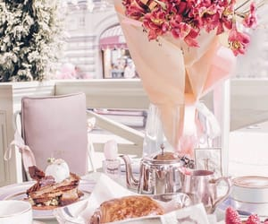 breakfast, croissants, and flowers image