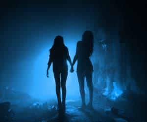 blue, dark, and girls image