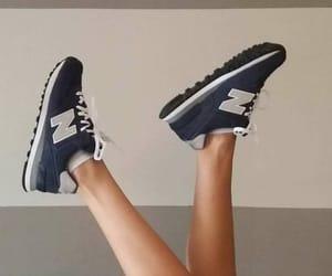 blue, girl, and new balance image