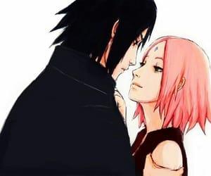 sasuke, uchiha, and sharingan image