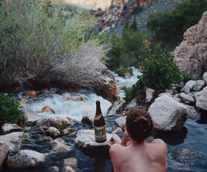 alone, beer, and mountain image