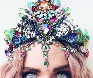crown, girl, and flower crowns image