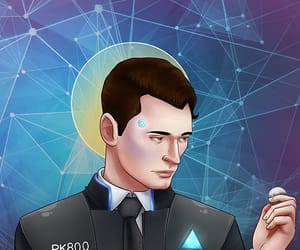 detroit become human, rk800, and conner image