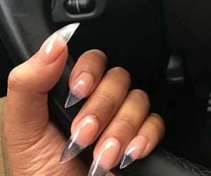 stiletto nails, clear nails, and gel nails image