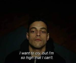 mr robot, quotes, and cry image