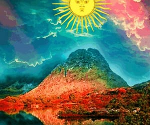 colors, sun, and trippy image