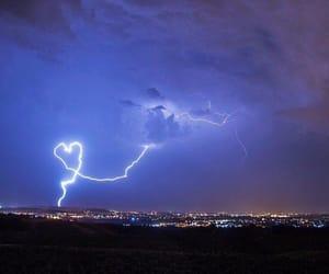 heart, lightning, and thunder image