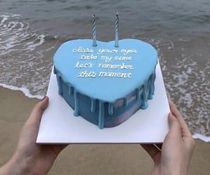 blue, cake, and birthday image