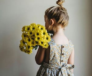 baby girl, sunflowers, and cute image