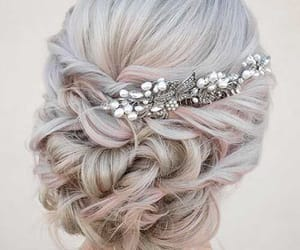 braid, hairstyle, and white hair image