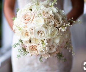 bouquet, lace, and pink image