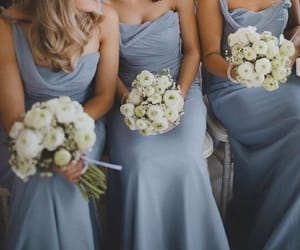 dress, grey, and roses image