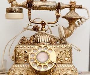 antiguidade, telefone, and retro image