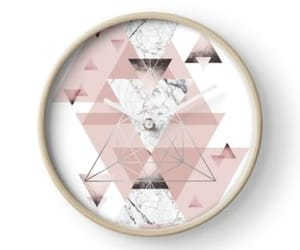 abstract, geometric, and rose gold image