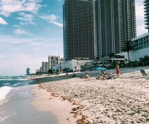 beach, summer, and Miami image