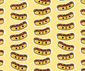 hot dog, pattern, and fondo image