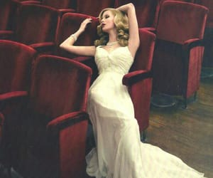 dress, blonde, and red image