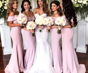 wedding, wedding photography, and bridesmaid dress image
