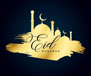 happy eid and عيد مبارك image