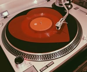 vintage, music, and red image