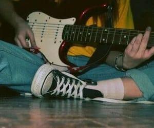 guitar, grunge, and music image