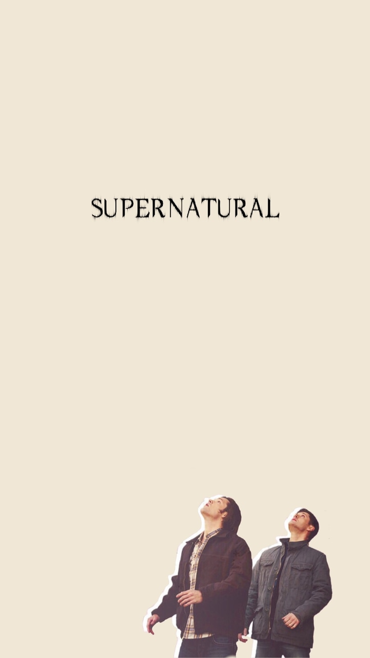 Cute Supernatural Wallpaper Iphone With Sam Dean Winchester On It