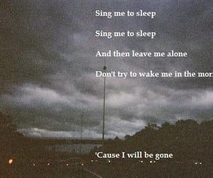 Lyrics and asleep image