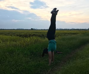 handstand, Sunday, and yoga image
