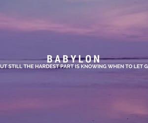 Lyrics, aesthetic, and Babylon image