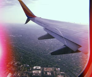 airplane, city, and explore image