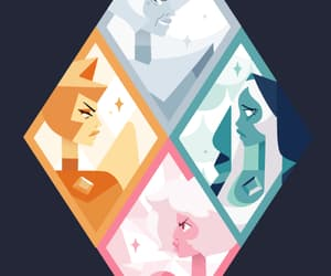 blue diamond, steven universe, and white diamond image