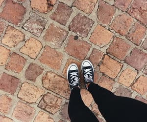 all star, black converse, and museum image