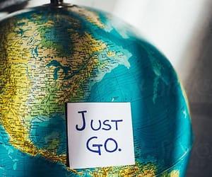 globe, travel, and viaje image
