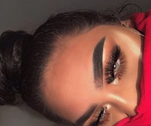 eyebrows, girl, and lashes image