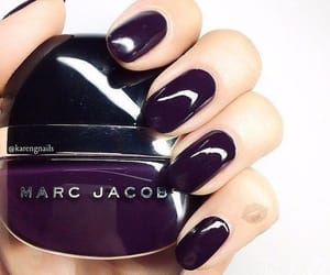 nails, dark, and purple image