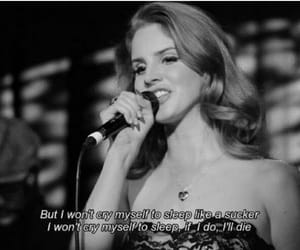 black and white, lana, and quote image