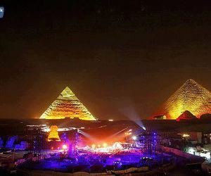 egypt, neon, and night image