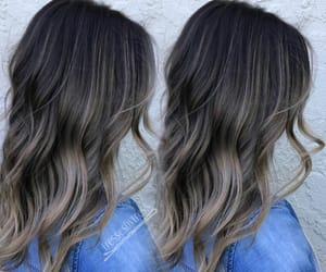hair, style, and balayage image
