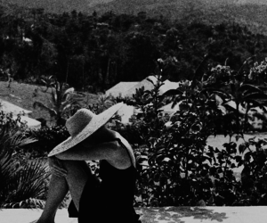 black and white, grace kelly, and scenery image