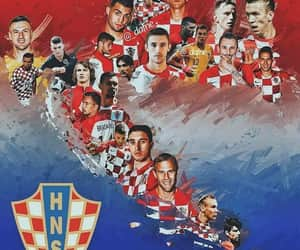 Croatia, football, and love image
