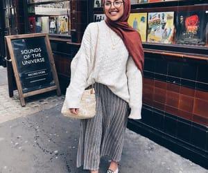 fashion, hijab, and oversize image