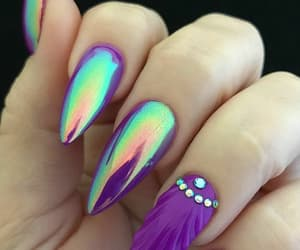 colorfull, nails, and shell image