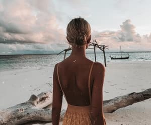 girl, wanderlust, and beach image