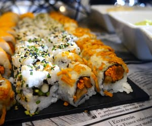 food, middle east, and sushi image