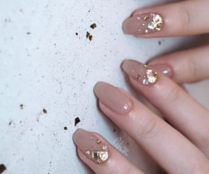 Nude, nails, and gold image