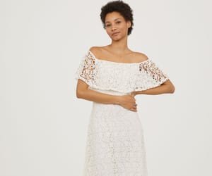 H&M, lace, and white dress image