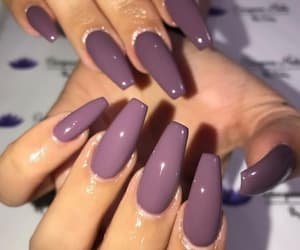 manicure, nail, and violet image
